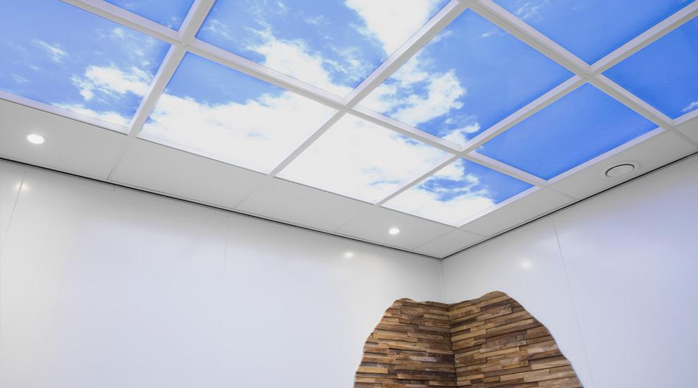 Haal buiten naar binnen met een led wolkenplafond