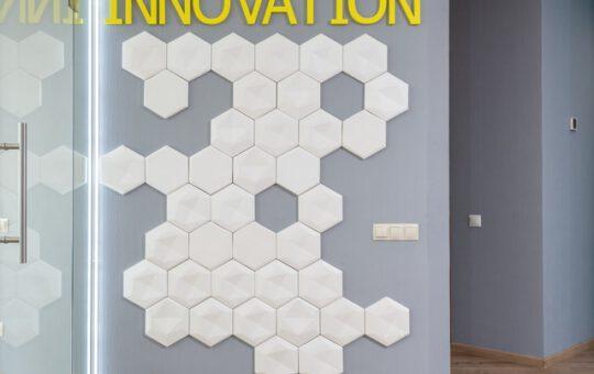 Hexagon tegels voor een levendig effect